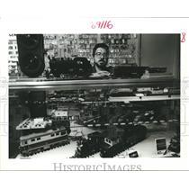 1988 Press Photo Danny Bonin, President of Crescent City Model RR Club