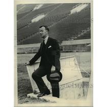 1931 Press Photo Ryan A Grut Denmark's Olympic Games attache at LA