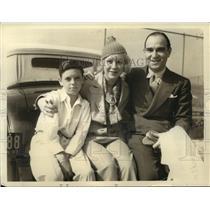 1933 Press Photo actress Glenda Farrell with director boyfriend Bob Roskin