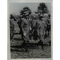 1934 Press Photo King Victor Emmanuel III of Italy at Calvary Review