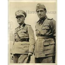 1936 Press Photo Marshal Pietro Badoglio with one of his Stalwart Aides