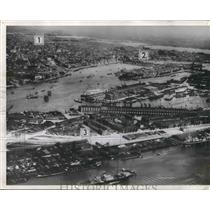 1940 Press Photo Aerial View of Rotterdam, Holland