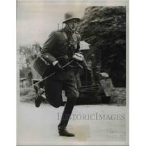 1938 Press Photo Prince Carl Johan of Sweden in Cavalry Maneuvers