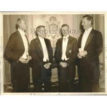 1935 Press Photo American Nobel winners Dr GR Minot, Dr HC Urey, Dr WF Murphy