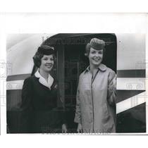 1966 Press Photo Sandra Jurisich and Candy McNair, Former Flight Attendants