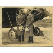 1932 Press Photo Truman & Newman Wadlow & twin Cessna monoplane