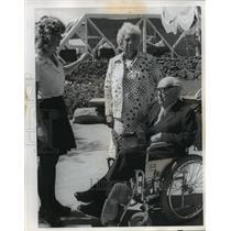 1974 Press Photo Record setting Pilot Jacqueline Odlum & husband Frank-Expo '74