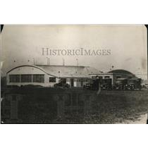 1928 Press Photo View of an airport hangar at Cleveland Airport. - cvp81550