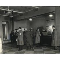 1937 Press Photo Ticket office in Administration Building of Cleveland Airport.