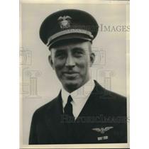 1931 Press Photo Lieutenant Richard Whitehead, Herbert Schiff Trophy awardee