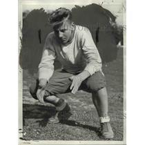 1934 Press Photo Sabath, QB with East High football - cvb42710