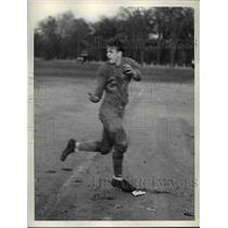 1935 Press Photo Arnold Paulk, Left end with East High football - cvb42713