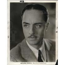 1931 Press Photo William Powell - cvp74913