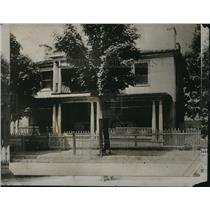 1912 Press Photo Exterior front view of President Woodrow Wilson's birthplace.