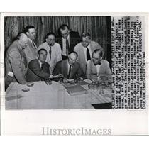 1948 Press Photo Leaders of Rebellious States' Rights Democrats in Atlanta, Ga