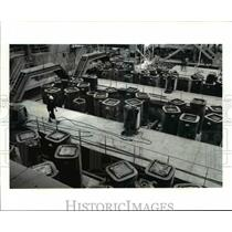 1986 Press Photo The casing room in Timken Faircrest Mill filled with ingots