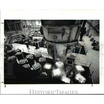 1986 Press Photo The casing room of the Timken Faircrest Mill in South Canton