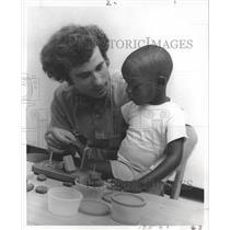 1971 Press Photo Student Mike Manx & Friend Joey at Blue Ridge Center of Houston