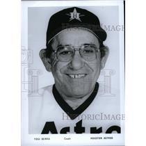 Press Photo Yogi Berra Coach Houston Astros - RRW71087