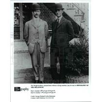 """1999 Press Photo The Wright brothers, """"Biography of The MIllenium."""" - cvb16084"""