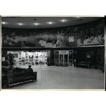 1991 Press Photo In Flight by artist James Brooks at the Marine Air Terminal