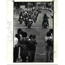 1985 Press Photo Motorcycle-parade - cvb24794