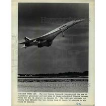 1976 Press Photo Air France Concorde - cvb27876