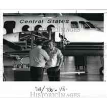 1989 Press Photo Richard Brown & Paul Blosser of Central States Airlines