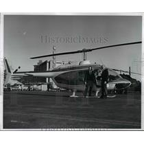 1971 Press Photo New Jet Age Helicopter for Cleveland is shown here by Carl Munn