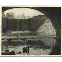 1932 Press Photo Dam at Oak Creek in Milwaukee, Wisconsin - mjx40773
