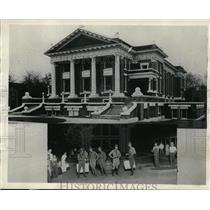 1931 Press Photo First Baptist Church, Guardsmen patrolling in Jonesboro Texas.