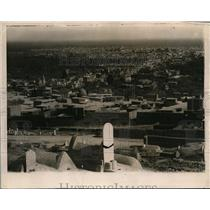 1918 Press Photo Ancient City of Damascus from a nearby mount in Syria.