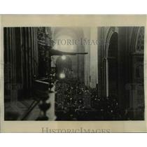 1926 Press Photo Cathedral of Mexico City. Mexican Church War. - cvb07527