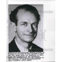 1954 Press Photo Professor Linus Pauling wins 1954 Nobel Prize for Chemistry