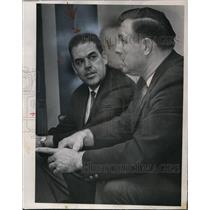 1966 Press Photo Otto Graham, coach of the Red Skins with Mike McCormick