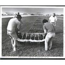1982 Press Photo banner day Frank Jackson pilot fly pla- RSA05723