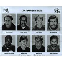 Press Photo San Francisco 49ers Players - cvb53006