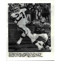 1990 Press Photo AFC Championship Game-Denver- Bronco linebacker Simon Fletcher