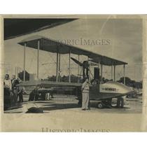 1964 Press Photo Benoist Airboat Biplane Airplane - RRX84823