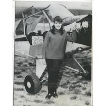 1965 Press Photo Manuela Binda Switzerland Female Pilot - RRX88267
