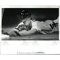 1989 Press Photo Pete O'Brien who went 3 for 4 against Toronto Blue Jays.