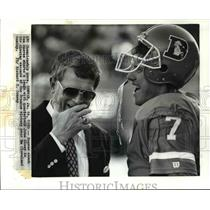 1990 Press Photo AFC Championship game, Denver-Denver Coach Dan Reeves.