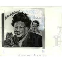 1984 Press Photo Drawing of Ella Fitzgerald - cvb15537