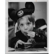 1978 Press Photo Dukey Tibbs Celebrates Mikey Mouse's 50th birthday - cvb25400