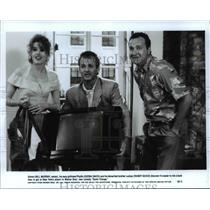 1990 Press Photo Bill Murray Geena Davis and Randy Quaid star in Quick Change