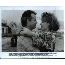 1990 Press Photo Bill Murray and Geena Davis in Quick Change - cvp66547