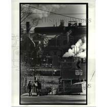 1987 Press Photo LTV Steel Plant in background - cva65956