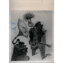 1988 Press Photo Arnold Roth Cartoon - RRX40845