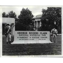 1980 Press Photo National Park Services personnel, George Rogers Clark Memorial