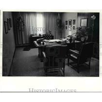 1990 Press Photo Paul Ferrara's office at BCI headquarters - cvb25672